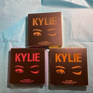 Set of 3 different Kylie pressed powder palettes